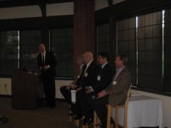 Left to right, Mark Lindquist, Rabbi Weiner, David Roland, Philip Watson, and Brian O&#039;Neill